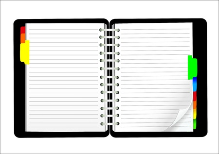 vector blank lined notebook Çizim
