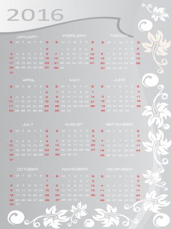 Vector calendar 2016 Stock Vector - 16392146