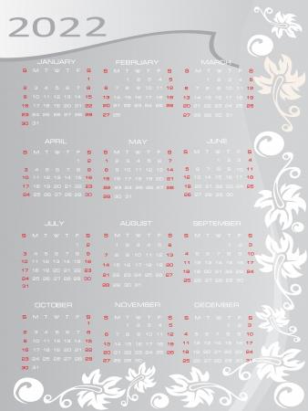 Vector calendar 2022 Stock Vector - 16392118