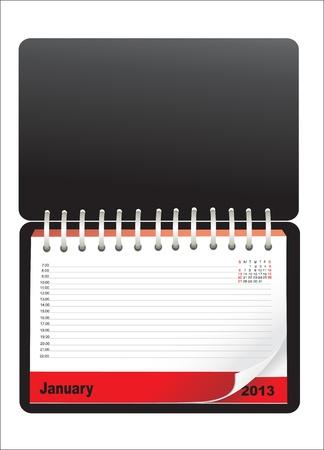 Notebook design with calendar Illustration