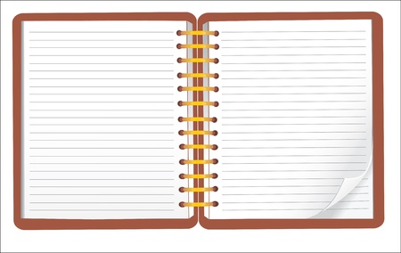 vector blank lined notebook Vector