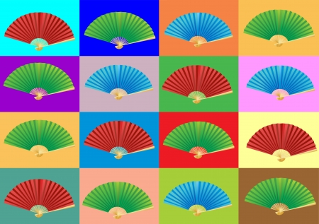 Folding fan  Vector  Background