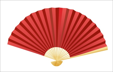 open fan: Folding fan  Vector