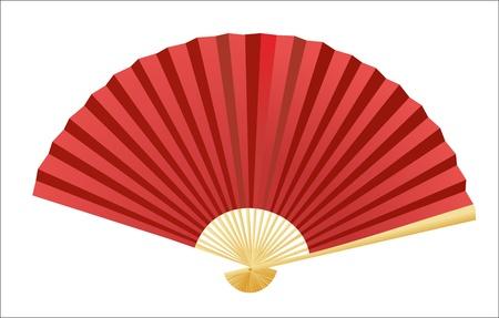 Vecteur ventilateur se pliant