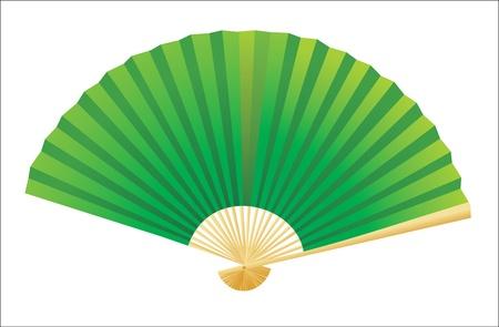 open fan: Folding fan  Vector