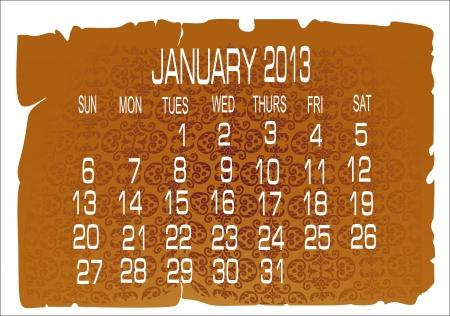 calendar January 2013 Stock Vector - 16392120