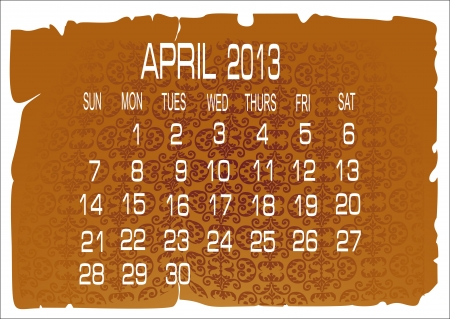 calendar April 2013 Stock Vector - 16392218