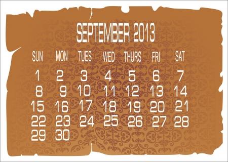 calendar September 2013 Stock Vector - 16392212