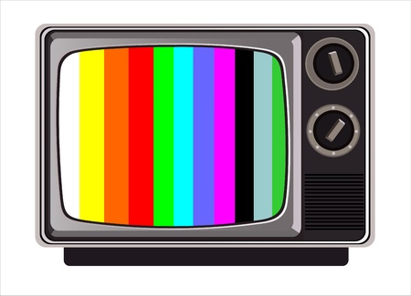 classic tv -colorful no signal background Vector