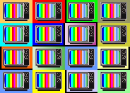 classic tv -colorful no signal background Stock Vector - 16392219