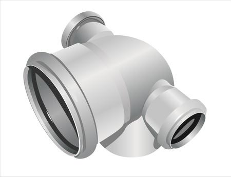 sewerage: Grey PVC sewer pipes