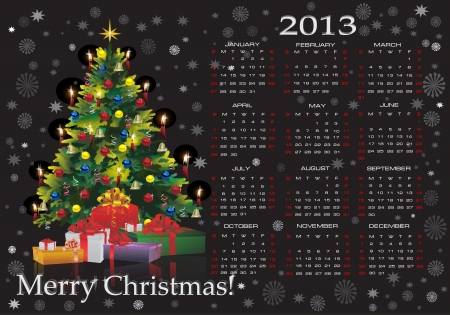 Christmas calendar 2013 Stock Vector - 16563670