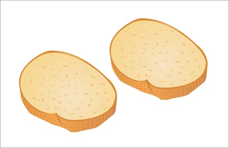 Bread slice isolated on white Stock Vector - 16563570