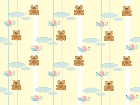 Wallpapers for a child s room Vector