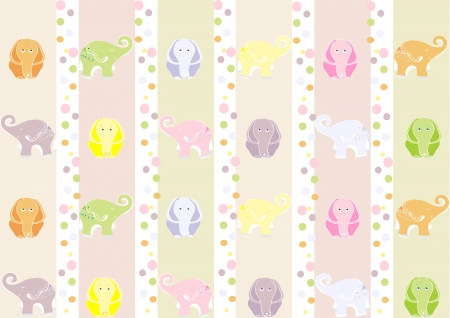 Seamless wallpaper with elephants for a child s room  Vector illustration Stock Vector - 16563637
