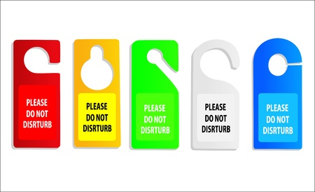 hotel do not disturb door hanger Vector