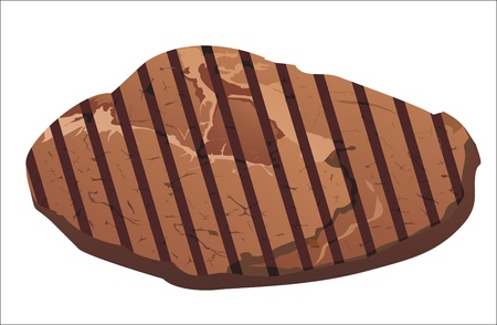 Grilled steak Vector