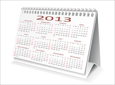 Calendar 2013 Stock Vector - 16749619