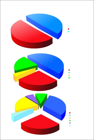 pie charts (pie chart graph) Stock Vector - 17207236