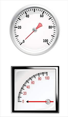 special manometer on white background Vector