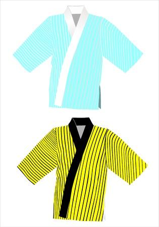kimono on a white background Stock Vector - 17207328