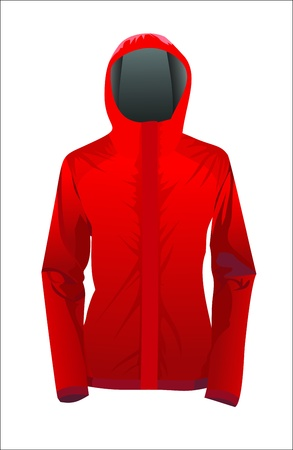 red jacket Stock Vector - 17207249