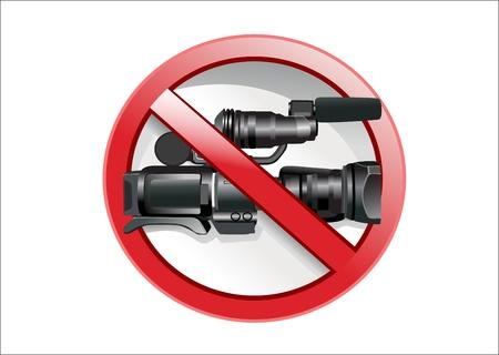 No camera sign. Stock Vector - 17207337
