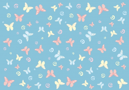 Butterfly seamless pattern. Wallpaper Vector