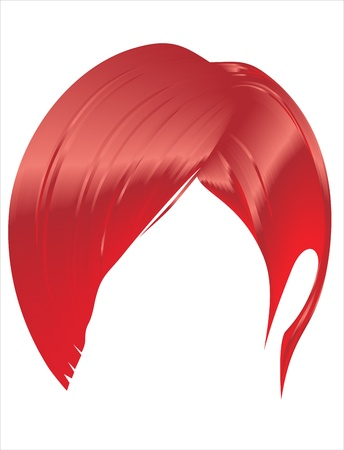 hair styling for women on a white background Vector