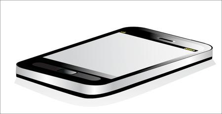 Black smartphone on white background Stock Vector - 17207260
