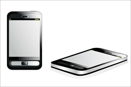 Black smartphone on white background Stock Vector - 17207288
