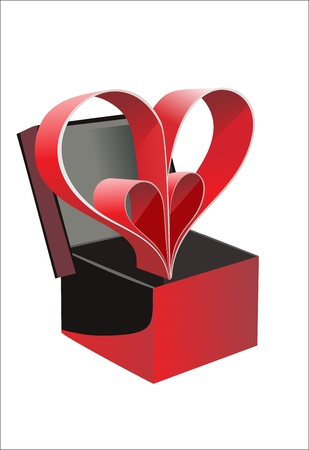 Valentine s day gift card  Stock Vector - 17483853