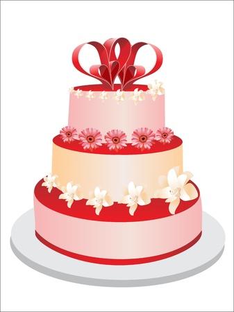 Valentines Day Cake Vector