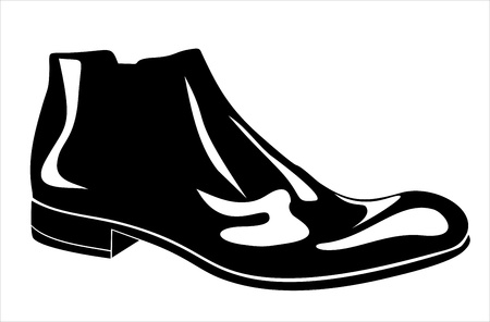 Mens shoes with white background Stock Vector - 17483903
