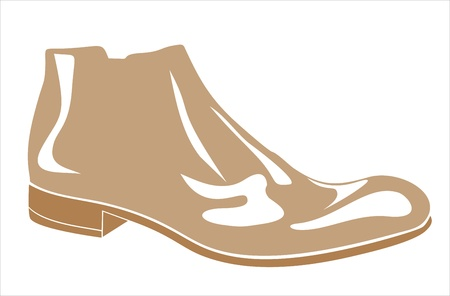 Mens shoes with white background Stock Vector - 17483910