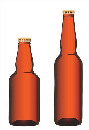 Bottle beer on white background. Stock Vector - 17483975