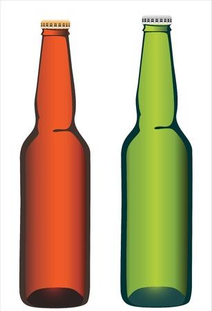 Bottle beer on white background. Stock Vector - 17484005