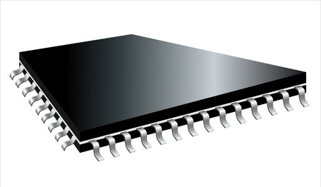 ic: A controllerCPU type square microchip.