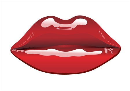 red lips: red lips Illustration