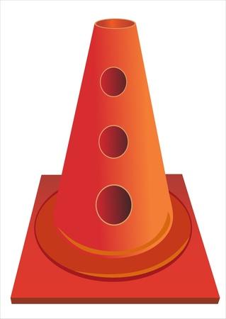 Traffic cone Stock Vector - 17483920