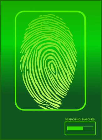 Electronic biometric fingerprint scanning Stock Vector - 17483946