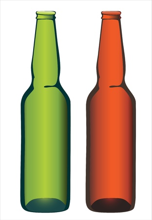 Bottle beer on white background. Stock Vector - 17483955