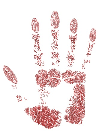 Red hand prints Stock Vector - 17484058