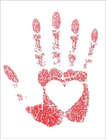 hand prints, heart Stock Vector - 17484067