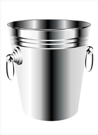 empty bucket for champagne bottle isolated on a white background Stock Vector - 17484003