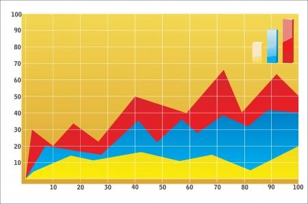 Business chart Stock Vector - 17484004