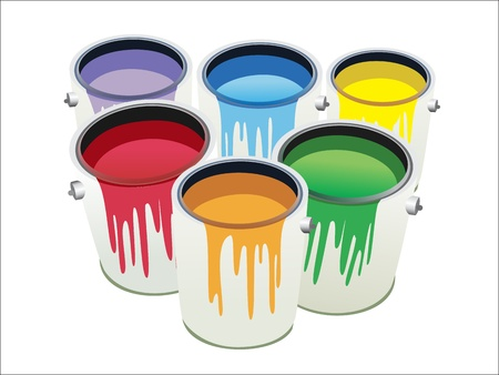 Cans of paint Stock Vector - 17483971