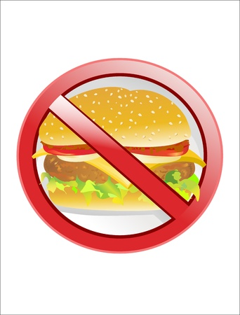 no fast food label Stock Vector - 17484024