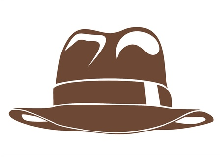 hatband: vintage hat Illustration