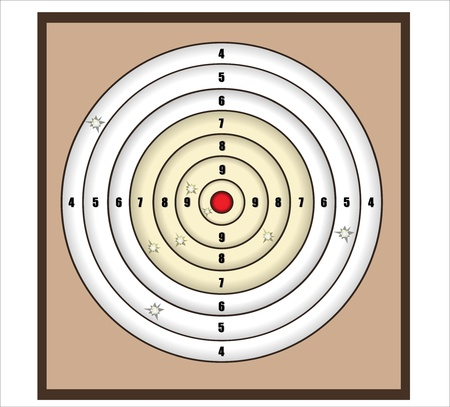 crosshair: crosshair with red dot - illustration